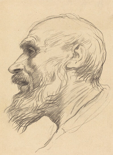 Alphonse Legros, 'Head of an Old Man'