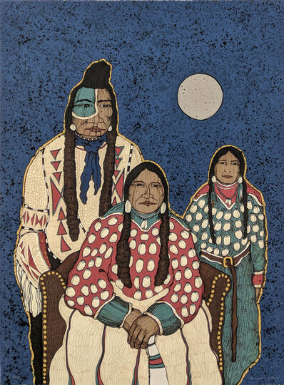 Kevin Red Star, 'CROW INDIAN FAMILY', 1980