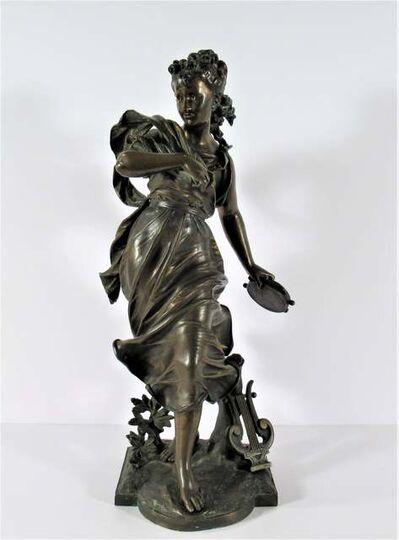 "Eutrope Bouret, ' ""Terpsishore au Tambourin ( Terpsichore Woman with Tambourine)""', ca. 1880"