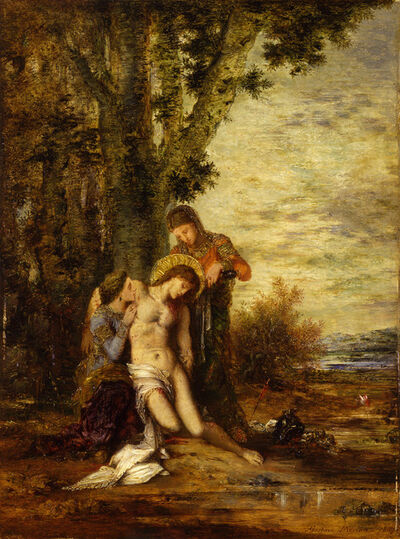 Gustave Moreau, 'St Sebastian unbound by the Holy Women', 1869