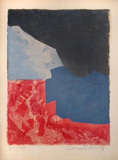 Serge Poliakoff, ' Composition rouge, gris et noir', 1960
