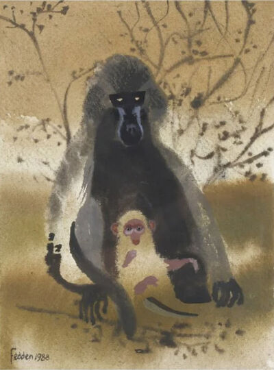 Mary Fedden, R.A., 'Mother and child', 1988