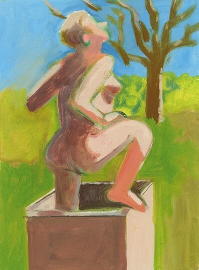 Lois Dodd, 'Nude Emerging from Box', 2014