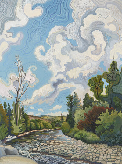 Phyllis Shafer, 'Curious Cloud Surprised the Sky', 2019