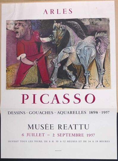 Pablo Picasso, 'Picasso Vintage Exhibition Poster in Arles', 1957