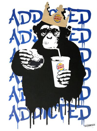 Thirsty Bstrd, 'Fast Food Monkey – Burger King Blue', 2016