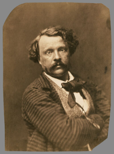 Nadar, 'Self portrait in striped coat, F'lix Nadar', 1856-1858