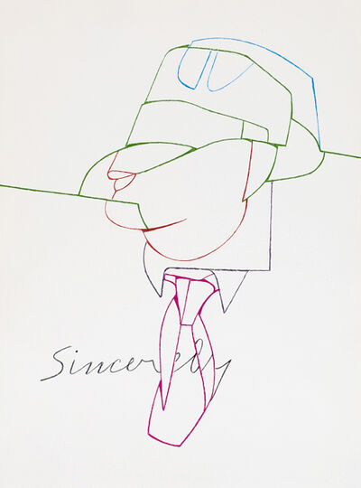 Valerio Adami, 'Sincerely from Derrière le Miroir', 1970
