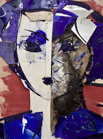 Manolo Valdés, 'Cabeza Azul y Blanca', 2019