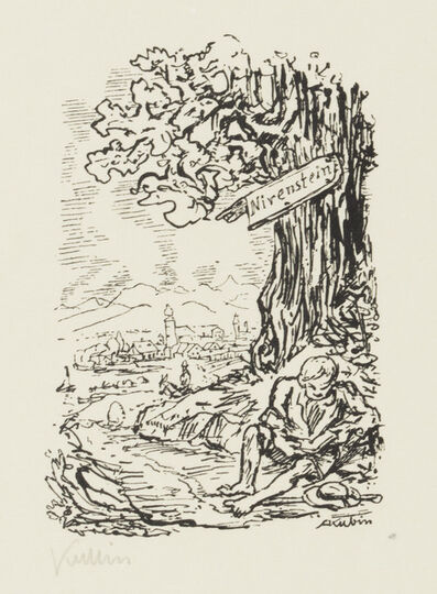 Alfred Kubin, 'Ex Libris for Otto Nirenstein (Kallir)', 1927