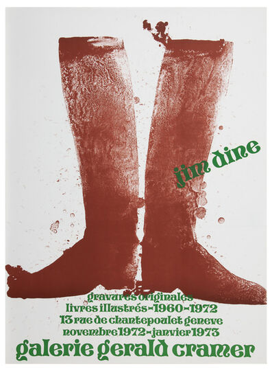 Jim Dine, 'Galerie Gerald Cramer 1973 (Silhouette Boots on Brown Paper 1972) ', 1973