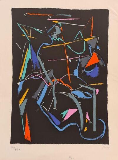 André Lanskoy, 'Composition sur fond Noir ', ca. 1970