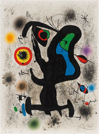 Joan Miró, 'Lithograph for the International Plastic Arts Association, Unesco', 1971