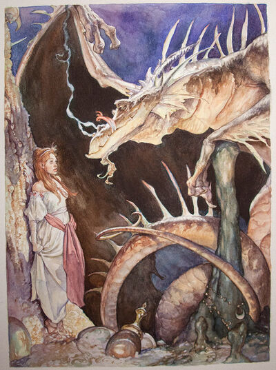 Iain McCaig, 'The Dragon and the Princess', 1992