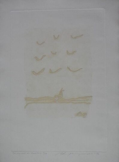Adja Yunkers, 'The Sky Hides All Birds Modernist Intagilo Print', 1970-1979
