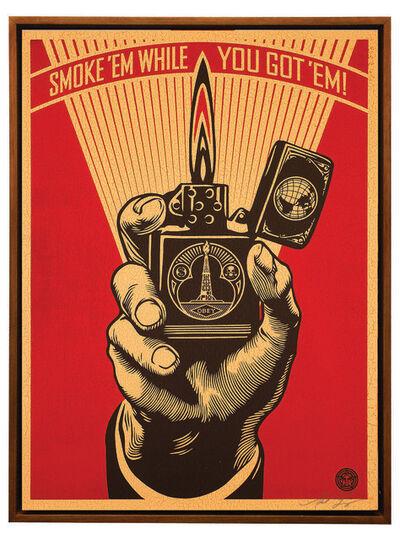 Shepard Fairey, 'Smoke 'em While You Got 'Em', 2015