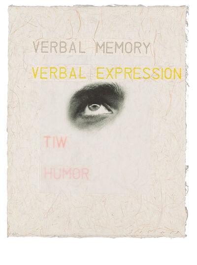 Jaume Plensa, 'Domestic propensities 4 (Verbal memory)', 2002