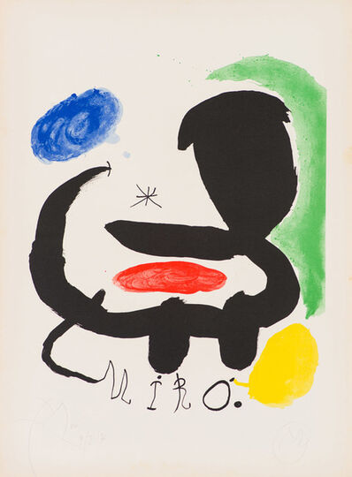 Joan Miró, '(2) Poster & Cover for Exhibition Catalogue at Sala Pelaires, Palma de Majorca (Maeght 683a & 684)', 1970