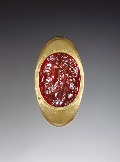 'Engraved Gem Inset Into a Ring',  25 -1 B.C.