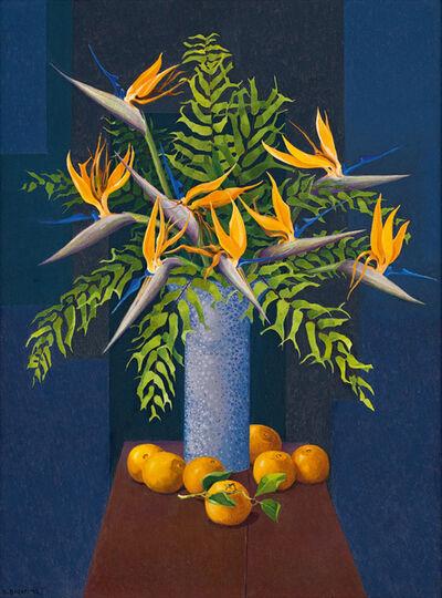 Diamond Bozas, 'Still Life with Strelitzias, Oranges and Ferns'