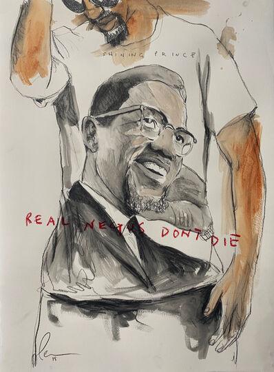 Fahamu Pecou, 'REAL NEGUS DON'T DIE: Shining Prince(Malcolm X)', 2019