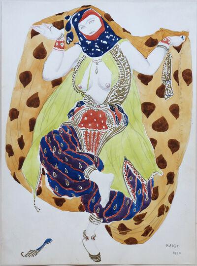 Léon Bakst, 'Watercolor of a Semi Nude Dancer for Scheherazade ballet by Bakst, France, 1910', 1910