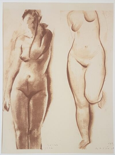 """Marino Marini, 'a - Nude, b - Ideal Nude - From """"A Suite of Sixty-three Re-creations of Drawings and Sketches in Many Mediums"""" ', 1968"""