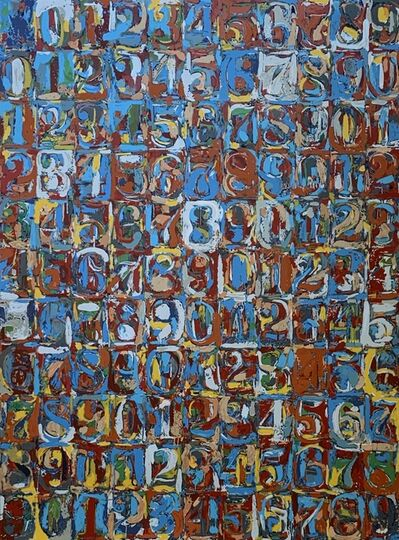 Jasper Johns, 'Original Screenprint from Albright-Knox Gallery, featuring Numbers in Colors (1959)', 1974