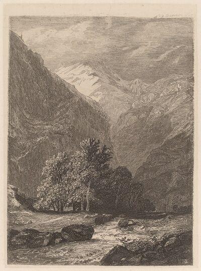 Alexandre Calame, 'Mountain Stream', 1838