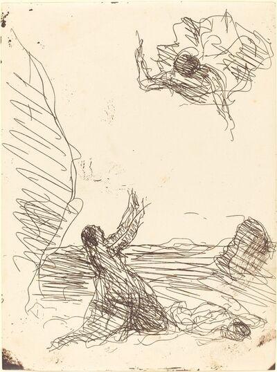 Jean-Baptiste-Camille Corot, 'Hagar and the Angel (Agar et l'ange)', 1871
