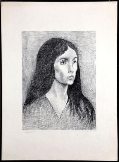 Raphael Soyer, 'Woman with Black Hair', 1979