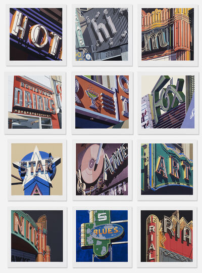 Robert Cottingham, 'AMERICAN SIGNS (PORTFOLIO OF 12)', 2009