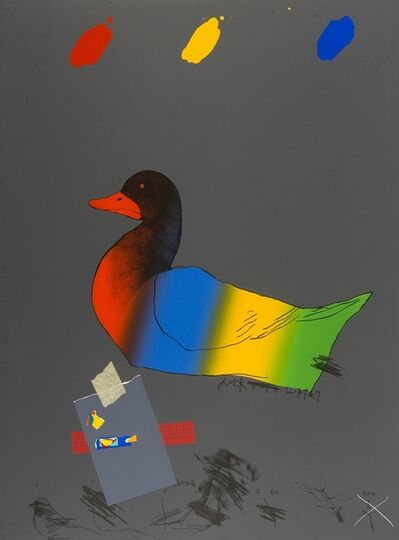 Raymond Saunders, 'Duck out of water (from America: The Third Century Portfolio)', 1975