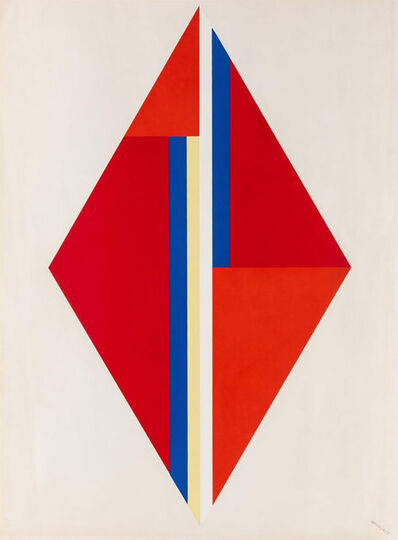Ilya Bolotowsky, 'Geometric Composition with Red Diamond', 1975