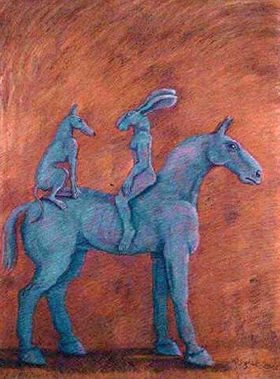 Sophie Ryder, 'Conversation on a Horse (large)', 2001