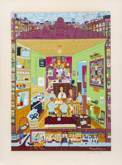 Ralph Fasanella, 'Family Supper', 1974