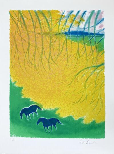 Andre Brasilier, 'Sous les branches', 1990