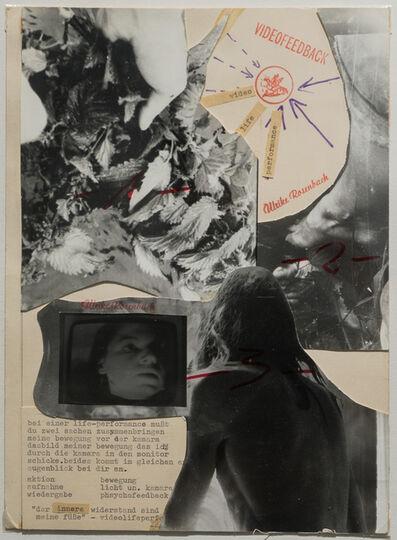 """Ulrike Rosenbach, '""""DER INNERE WIDERSTAND..."""" Orig. Collage', 1973"""
