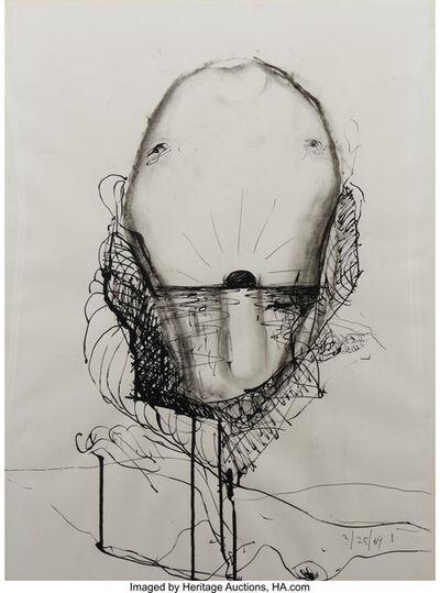 Nathan Joseph Roderick Oliveira, 'Untitled (Seated Female Nude) and Untitled (Sun at Horizon)', 1965; 1969
