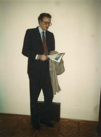 Duane Hanson, '[Study for Businessman Reading]', 1983