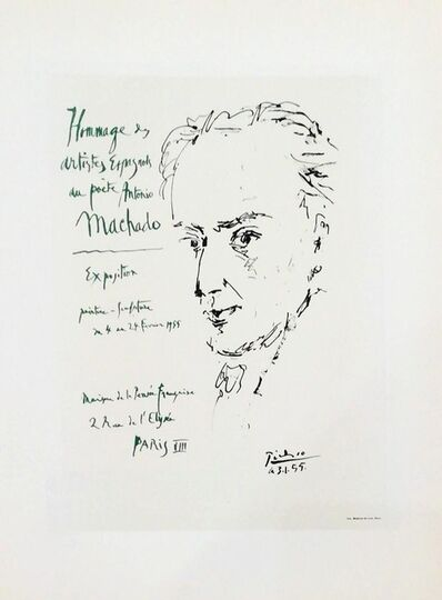 Pablo Picasso, 'Hommage Au Poéte Antonio Machado', 1959