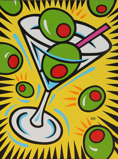 Burton Morris, 'Martini and Olives'