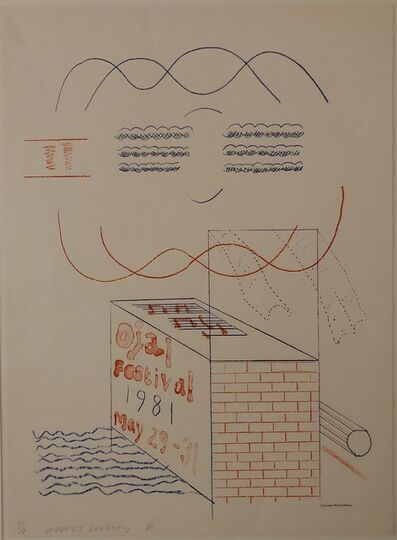 David Hockney, ''OJAI FESTIVAL' HOCKNEY SIGNED ORIGINAL POSTER.', 1981