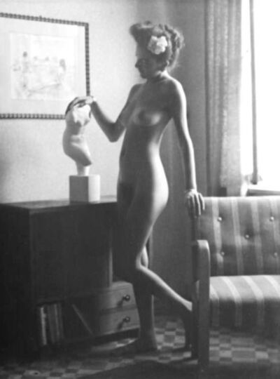 Willy Kessels, 'Female Nude with Flower in Hair and Bust', 1937-1938