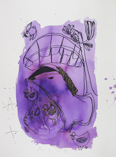 Arunan Dharmalingam, 'Purple Horse & Banana Tree', 2017
