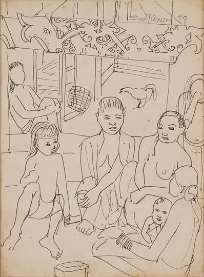 Cheong Soo Pieng, 'Dayak Family', 1959