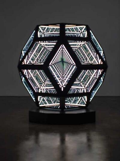 "Anthony James, '50"" Triacontahedron (Solar Black)', 2020"