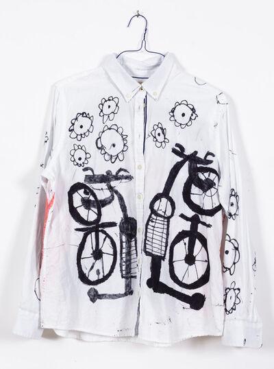 Pablo Calderon, 'Untitled (Bikes (front) and Portrait (back))', 2018