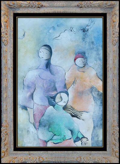 David Schluss, 'David Schluss Oil Painting Original Signed Modern Cubism Female Portrait Artwork', 20th Century
