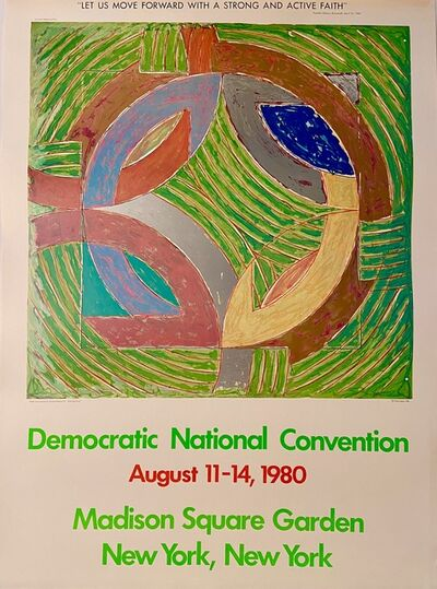 Frank Stella, 'Frank Stella, Democratic National Convention, August 11-14, 1980, Madison Square Garden, New York, New York', 1980